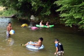 秘境 御杖村桃俣の川遊び