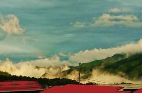 みつえ高原牧場 雲海