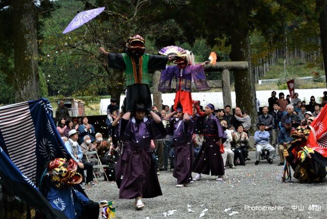 御杖村の秋祭り