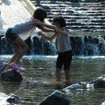 5月22日 新緑の御杖村キャンプ場(みつえ青少年旅行村)で遊ぶ子供たち