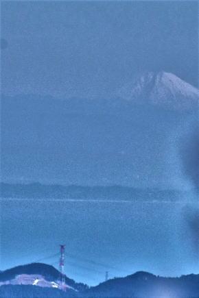 奈良県御杖村三峰山 霧氷と富士